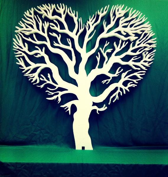 Декорации деревьев из картона 96